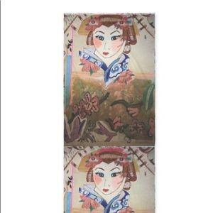 Cashmere Japanese Geisha Scarf(Custom Made)